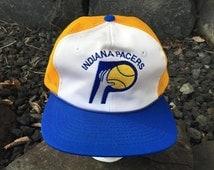 1980s Indiana Pacers Meshback Hat Twins Enterprise Vintage Snapback