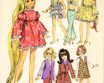 Simplicity 8519 Wardrobe Suitable for 17.5 inch Teen Dolls Crissy Sewing Pattern