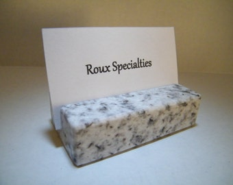 Business Card Holder,Desk Accessory,Office Card Holder, Stone Business Card Holder,Granite Card Holder