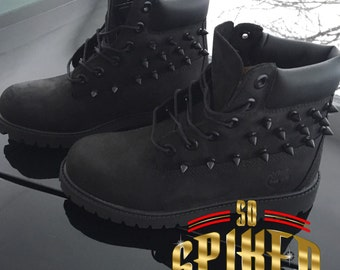 All Black Spiked Timberlands (SPIKES ONLY)