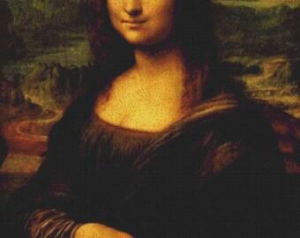 Mona Lisa PDF Cross Stitch Pattern