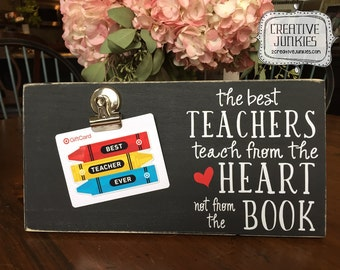The Best Teachers, Teach From the Heart Photoboard Frame w/Clip, Picture Frame, Memo Board