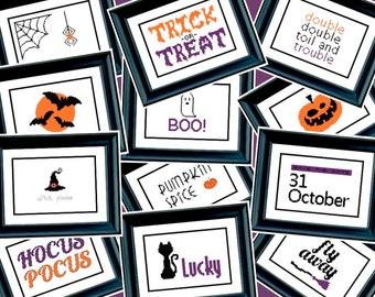 Set of 12 Halloween Cross Stitch Patterns - PDF Cross-Stitch Pattern