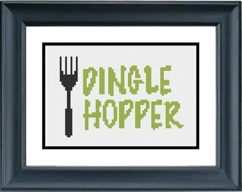 Dingle Hopper - The Little Mermaid - Disney - PDF Cross-Stitch Pattern