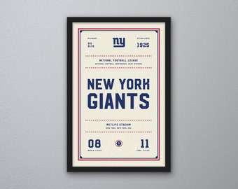 "New York Giants ""Day & Night"" Print"
