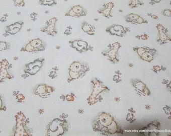 Flannel Fabric - Habitat Canteloupe- 1 yard - 100% Cotton Flannel