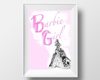 50% OFF SALE!!! Barbie Girl Print