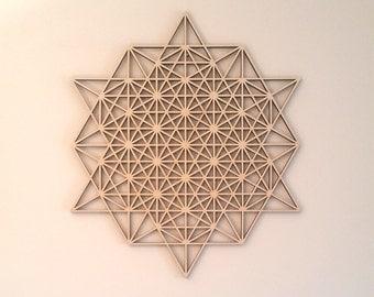 64 Star Tehtrahedron Grid