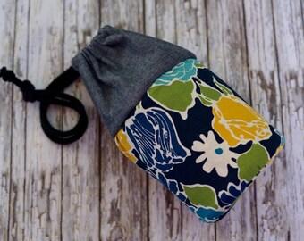 Camera Lens Case - Floral and Denim