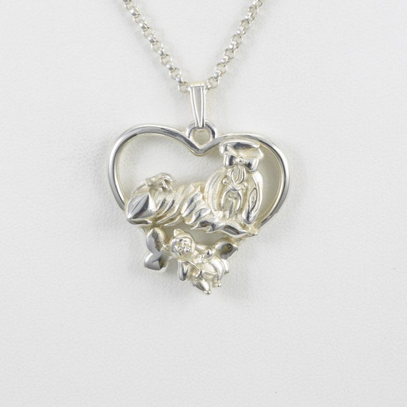 shih tzu necklace sterling silver shih tzu necklace by donna pizarro fr her 606