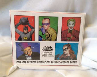 Batman '66 Blank Greeting Cards