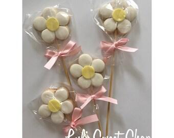 12 flower sugar cookies