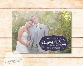 Married & Bright  // Newlywed Holiday Photo Card