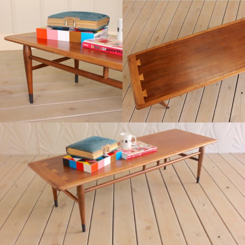 Vintage Lane Acclaim Coffee Table 56 Walnut Refinished