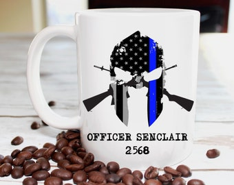 Police Officer Gift, Law Enforcement Gift, Thin Blue Line Gift, Thin Blue Line, Police Officer Mug, Law Enforcement Mug, Personalized Mug