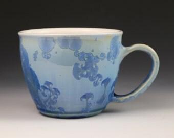 Crystalline 16 oz Mug Teal Blue Seafoam Green with White Cup #8312