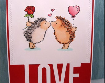 Valentine's Day-Valentine's Day Card-Love-Love Card-Heart-Heart Card-Hedgehog-Hedgehog Love