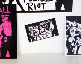 Stonewall Was a Police Riot! Stickers