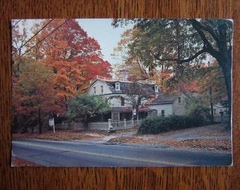 Vintage Postcard, Keeler Tavern, Ridgefield, CT, Colonial Landmarks, American Revolutionary War History, Souvenir, Memento, New England,Fall