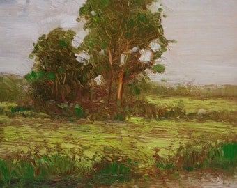 Landscape, Painting in Handmade, Original oil Painting on Canvas  One of a Kind, Impressionism, Signed with Certificate of Authenticity