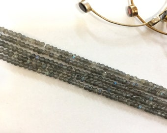 Labradorite Rondelles Faceted Beads