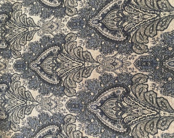 Stunning Black and Gold Chenille