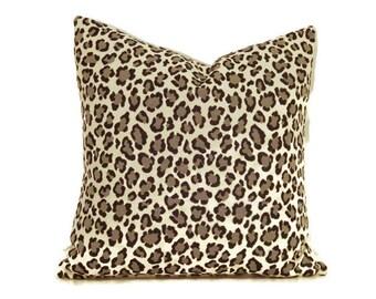Cheetah Print Pillow Cover-Leopard Print Pillow Cover-Animal Print Pillow Cover- Black Cheetah Print Pillow Cover