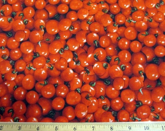 Realistic Vegetable Cherry Tomatoes Farmers Market Fabric From RJR