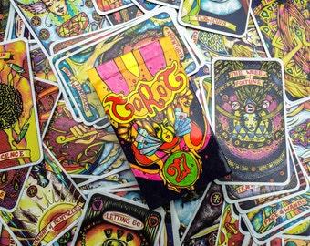 Illusori Tarot Deck - Spiritual Tarot Reading Cards - 78 Alchemy Tarot Cards with Card Box, Spiritual gift, Divination 78 Cards Deck