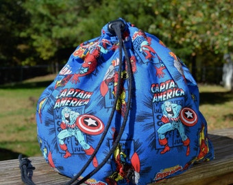 Avengers Fan Drawstring Totebag-Medium