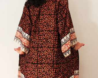 Orange  Topshop Key To Freedom Silk Fringe Kimono