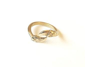 San Marcos Ring - Bronze  Cast Iguana Claws