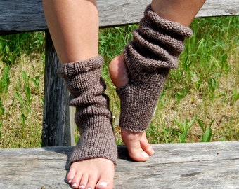Knitted Yoga Socks, Dance Socks,Toe-less Socks, Knitted Spats, Flip Flop Socks, Piyo Socks, Yoga Wear,  Pedicure socks, Knitted, Hand Knit