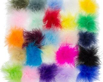 Marabou Feathers - Marabou Feather Puffs - Marabou Feathers Bulk - You Choose Colors and Quantity - Feather Puff - Marabou Feather BOA