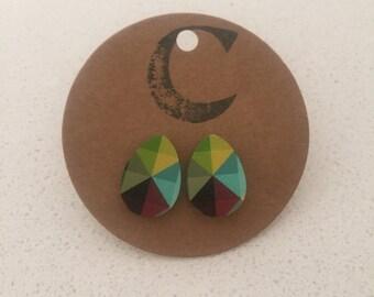 Laser Cut Painted Earrings