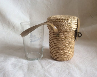 Rattan glass case designed for people taking the spa waters Aix en Provence/ 60's / thermal bath spa accessory