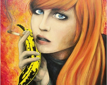 Pale Blue Eyes by The Velvet Underground 24 x 28- Giclee Print of Original Painting