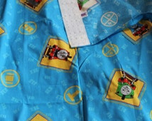 Thomas The Tank Engine & Friends  Pair of Curtains Material for Upcycling