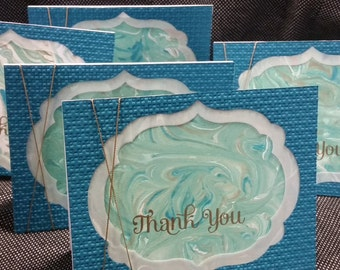 Marbled Thank You Card - This listing is for only one card!