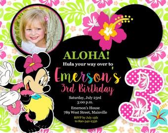 Minnie mouse luau invitation orderecigsjuicefo mickey mouse minnie mouse island luau birthday party printable invitations filmwisefo Gallery