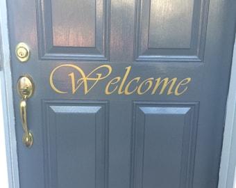 Welcome Decal (Wall or Door)