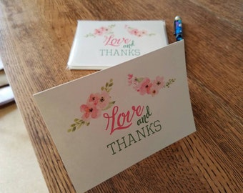 Love and Thanks Thank You Notecards