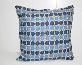 HGTV Home Decor Throw Pillow, Navy and Gray 18x18 Pillow Cover