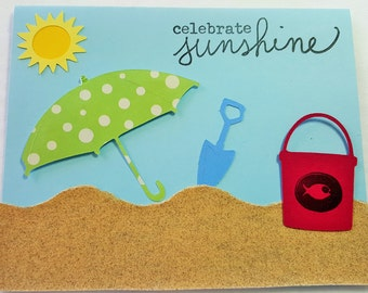 Hand Made Card Celebrate Sunshine