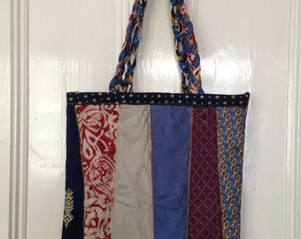 Tote Bag made out of Upcycled Ties