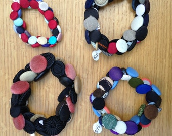 Fabric Button Bracelets