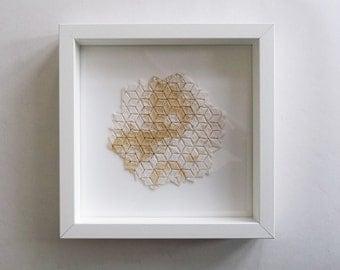 Espresso Mortale, Origami Tesselation, framed (23x23cm)