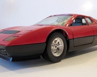 Vintage Bburago Models Ferrari BB 512, finely crafted 1980's 1/24th scale model car