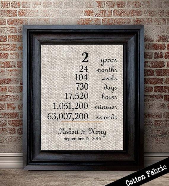 Years Together Cotton Anniversary Gift 2nd Anniversary Gift ...