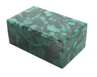 Malachite Antique lidded Box